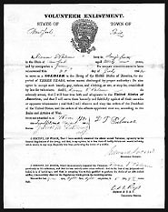 Image of an enlistment form, 117th New York Regiment