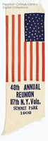 Image of a 117th New York Infantry Regiment commemorative reunion ribbon
