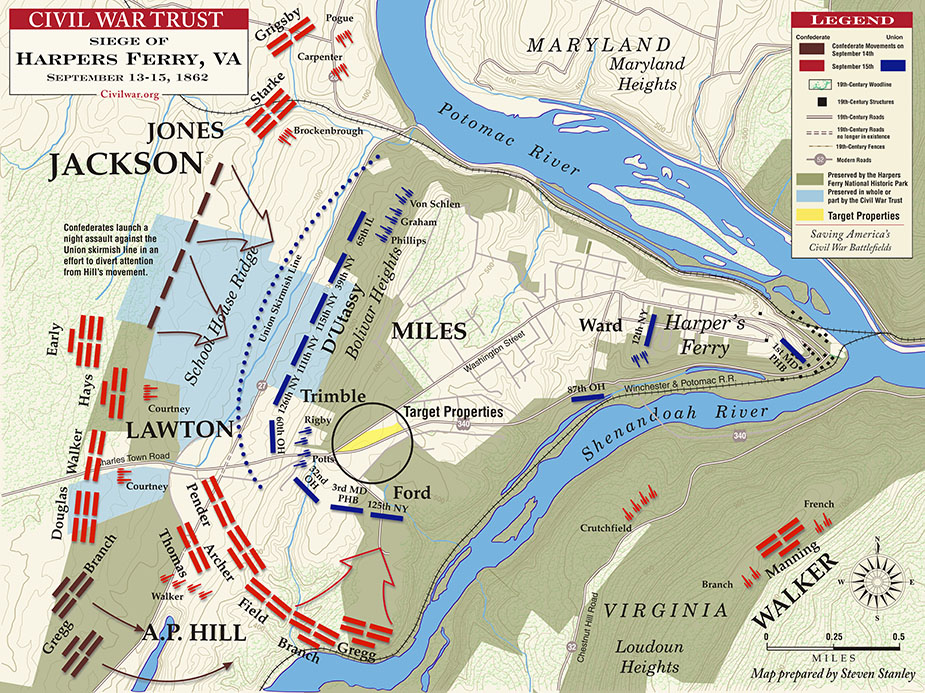 Harpers Ferry Virginia Map.Harper S Ferry Map Hamilton College Library Online Exhibits