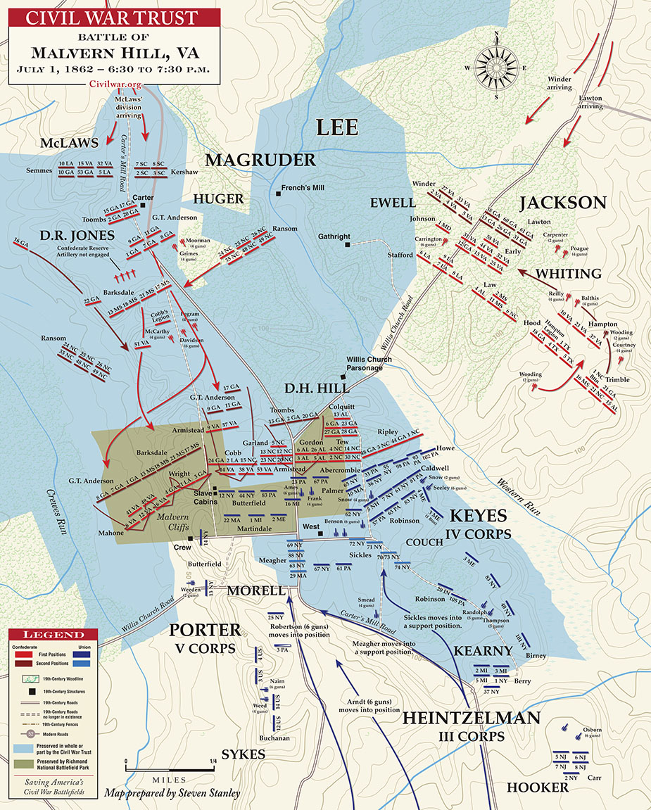 Hamilton Nc Map.The Battle Of Malvern Hill Map Hamilton College Library Online