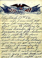 Image of a letter written by corporal Dwight W. Stannard, 97th New York Regiment