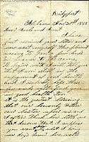 Image - Letter of Corporal Henry Welch of the 123rd New York State Infantry Regiment